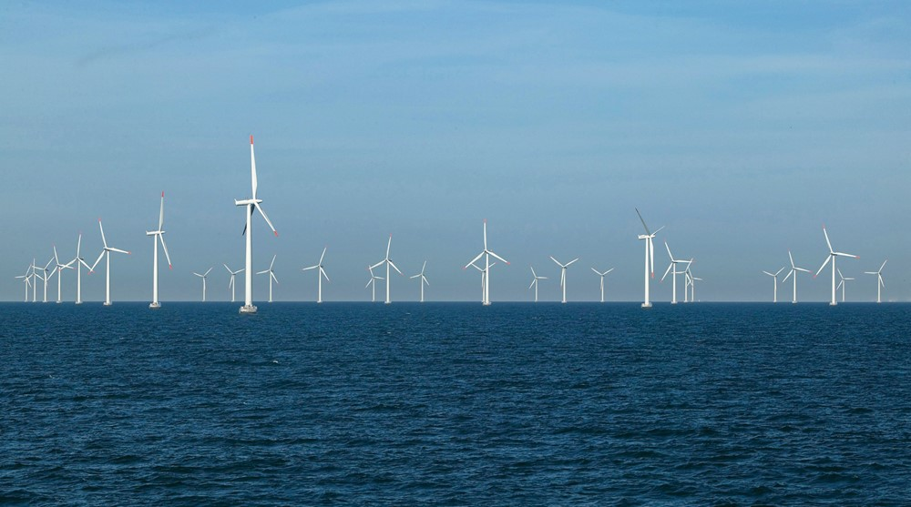 Nysted offshore wind farm at Red Sand